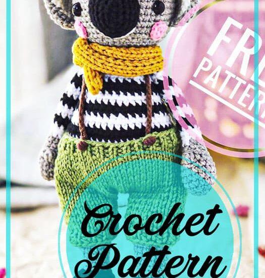 Koala amigurumi crochet free pattern