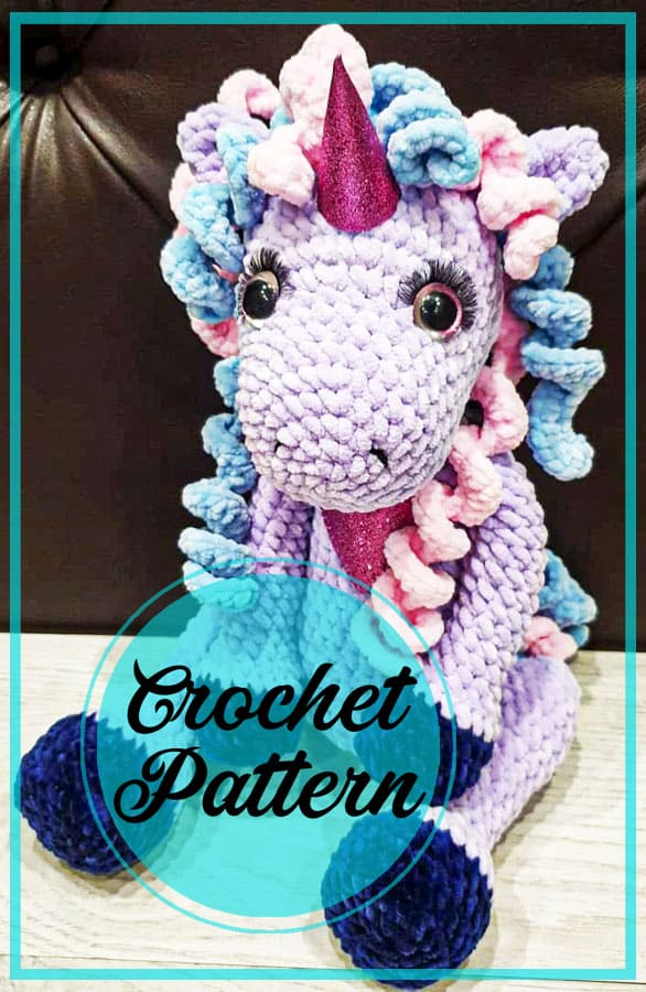 Cute unicorn amigurumi crochet free pattern