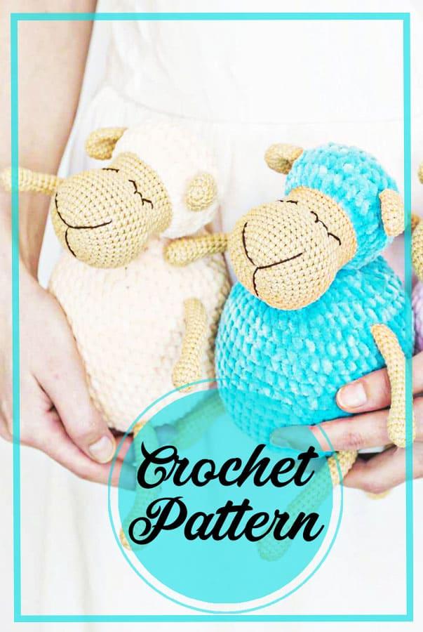 Sleeping sheep amigurumi crochet pattern