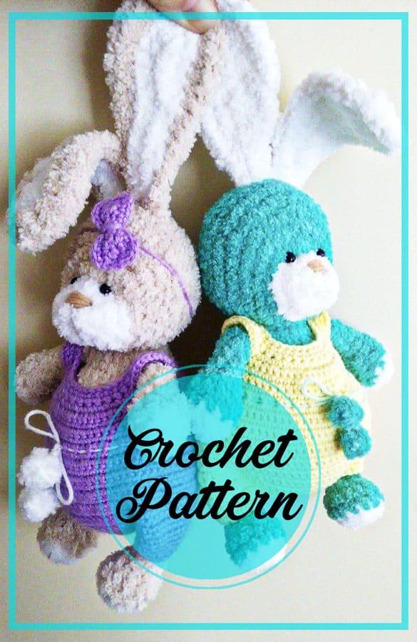 Awesome bunny amigurumi free crochet pattern