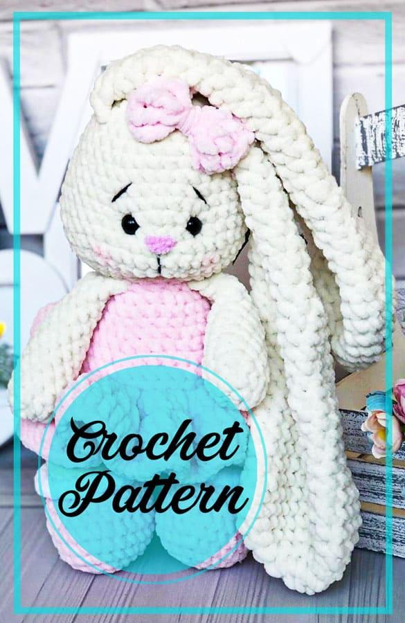 Lovely plush bunny amigurumi crochet pattern