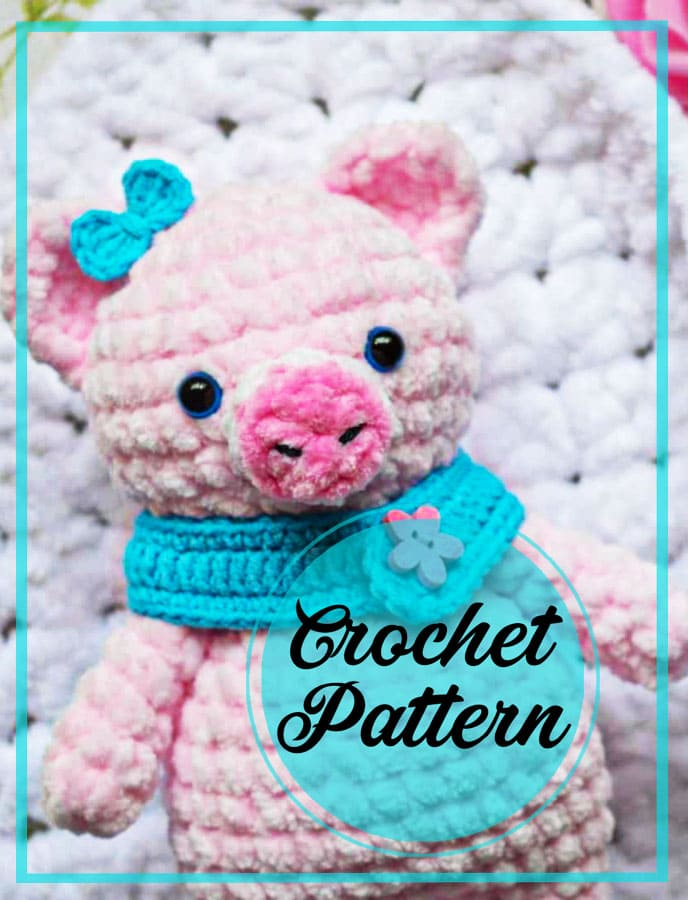 Cute amigurumi mini pig crochet free pattern