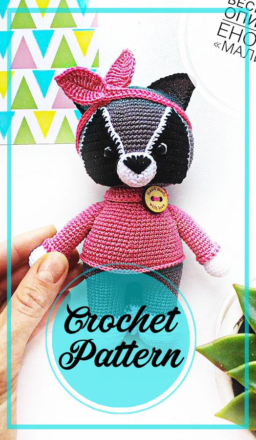Lovely raccoon amigurumi crochet free pattern