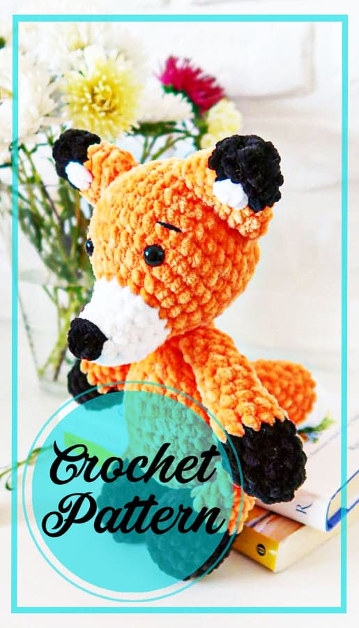 Fox amigurumi plush crochet pattern