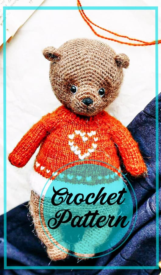 Awesome bear amigurumi crochet free pattern