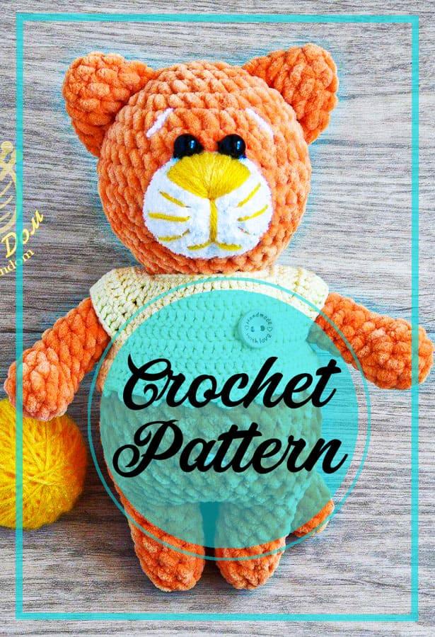 Orange amigurumi cat crochet pattern