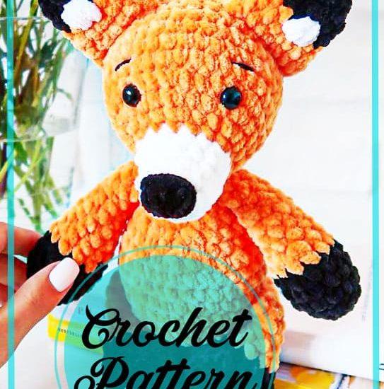 Fox amigurumi plush crochet pattern