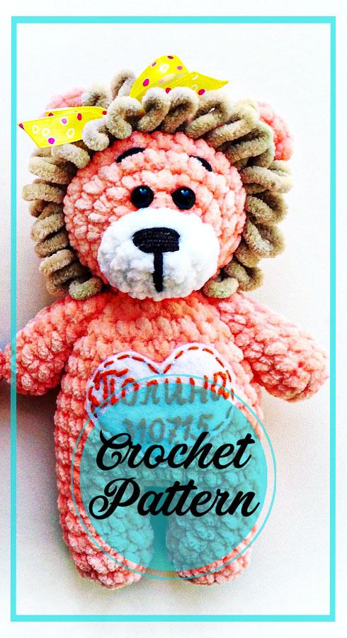 Crochet amigurumi lion free pattern