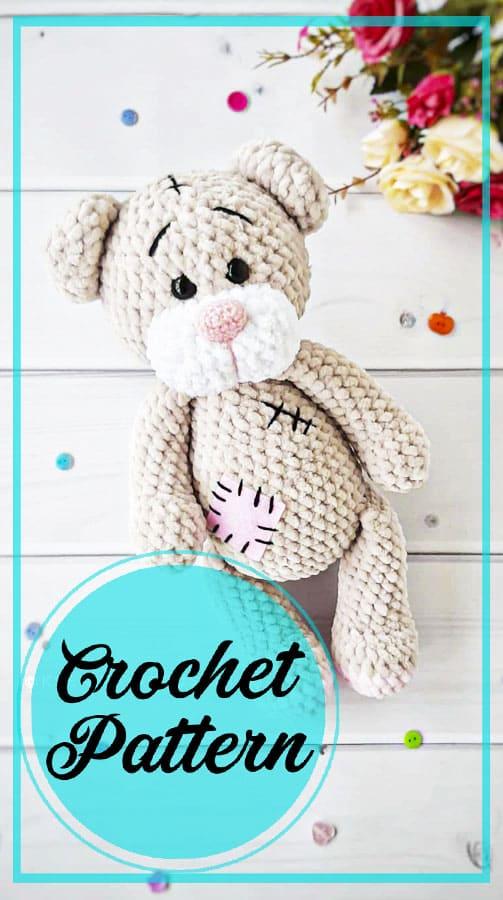 Plush bear amigurumi free crochet pattern
