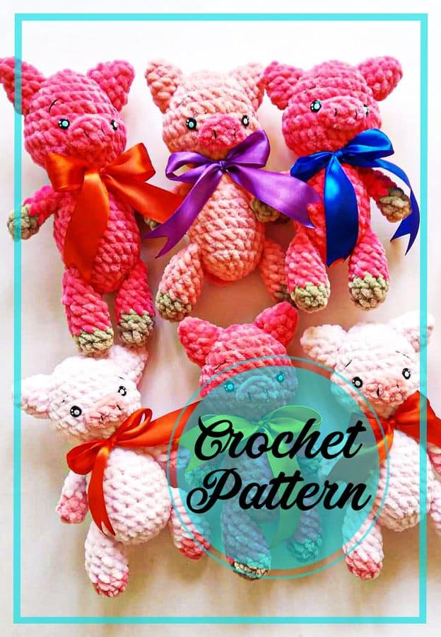 Amigurumi pig crochet free pattern