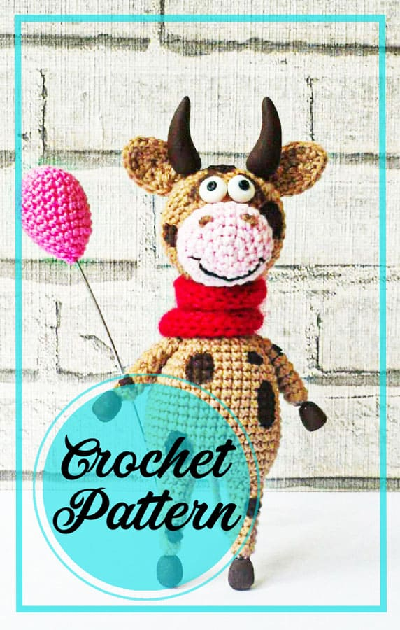 Amigurumi cow crochet free pattern