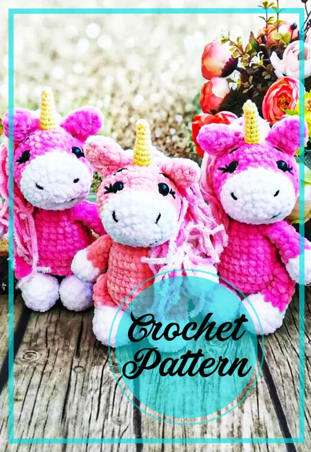 Lovely unicorn amigurumi crochet pattern