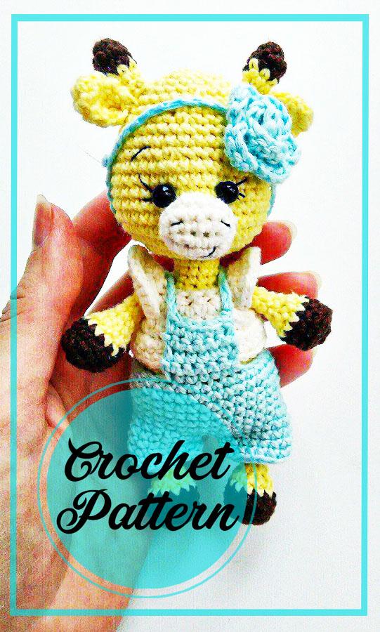 Sweet giraffe amigurumi crochet pattern
