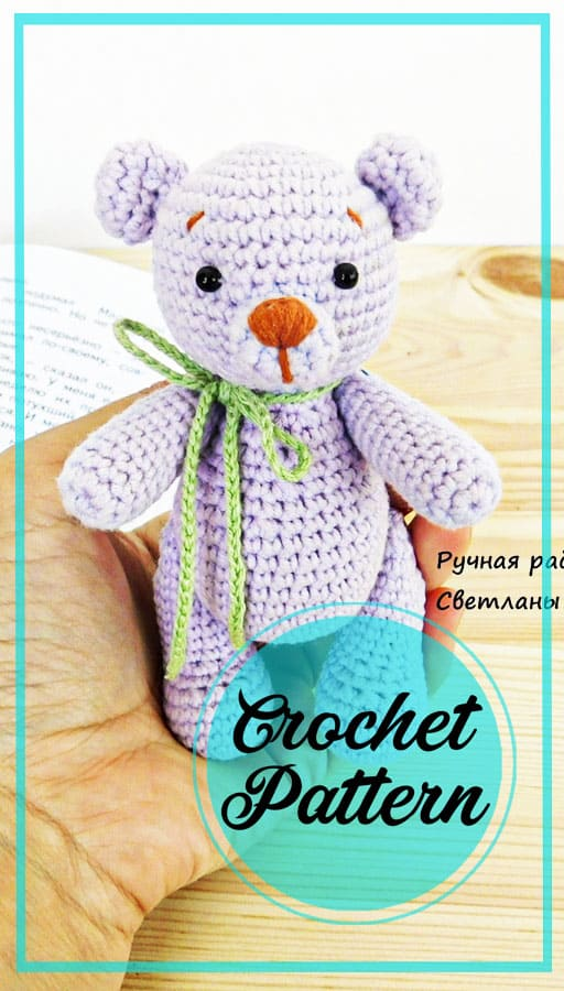 Little amigurumi teddy bear free pattern