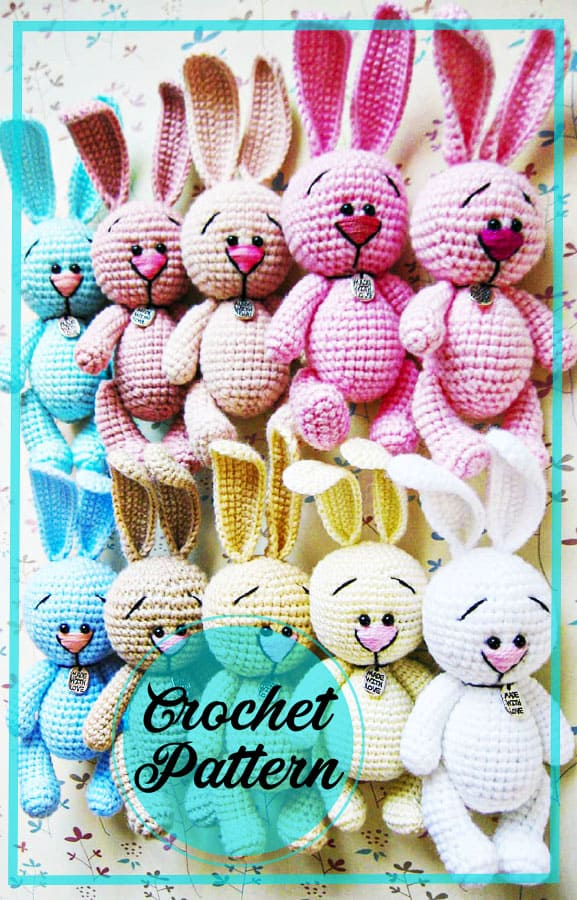 Cute amigurumi bunny free crochet pattern