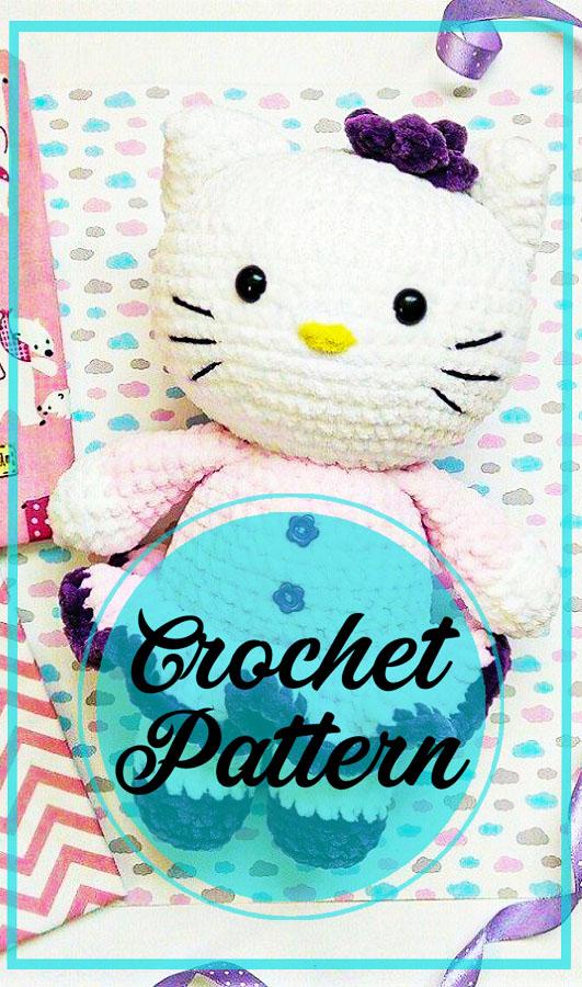 Cute Hello Kitty amigurumi crochet free pattern