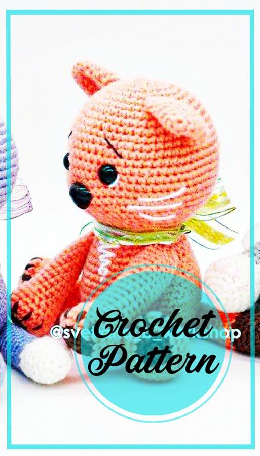 Kitten amigurumi crochet pattern