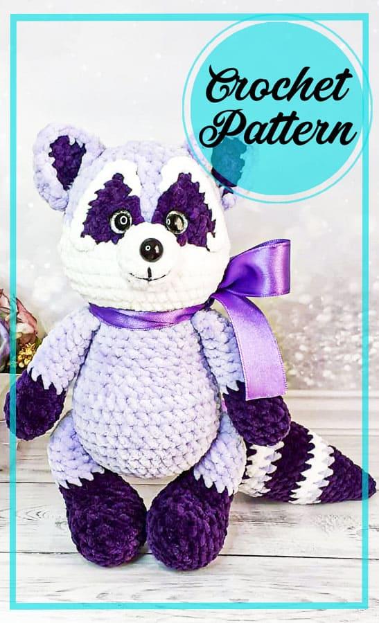 New Raccoon amigurumi free crochet pattern