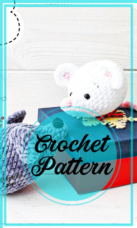 Plush mouse amigurumi crochet pattern