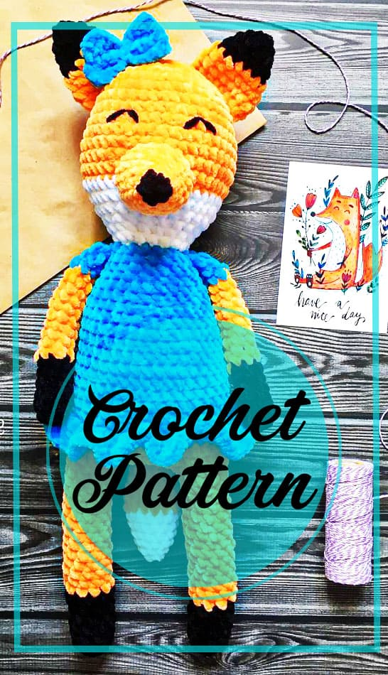 Plush fox amigurumi free crochet pattern