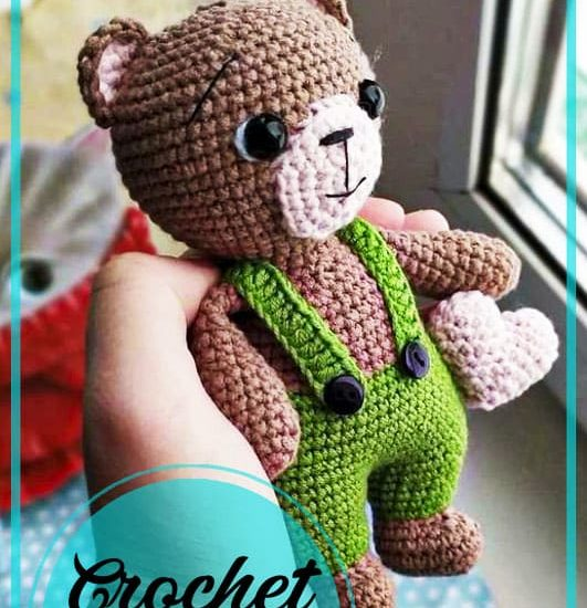 Little Teddy bear amigurumi crochet pattern