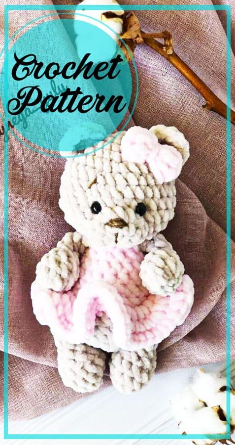 Ping soft bear amigurumi free crochet pattern