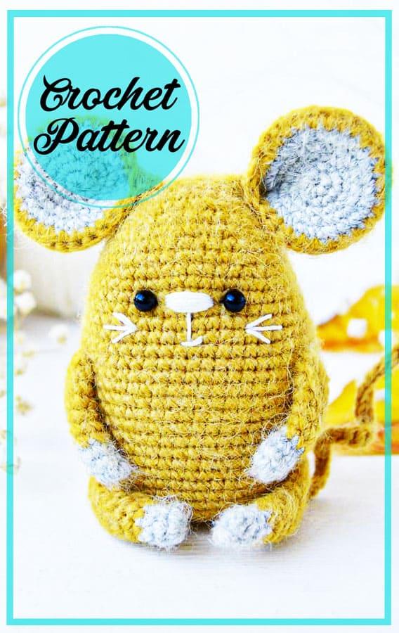 Fatso mouse amigurumi crochet free pattern