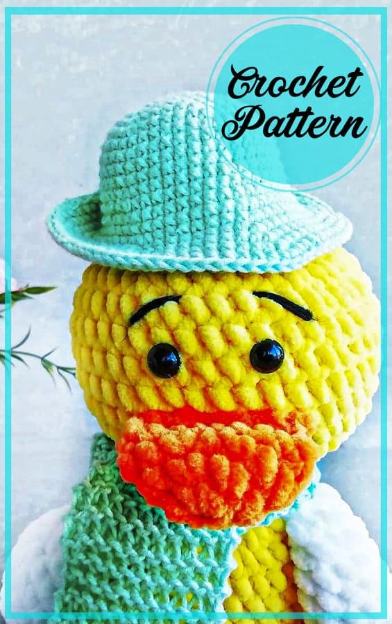 Lovely duck amigurumi free crochet pattern