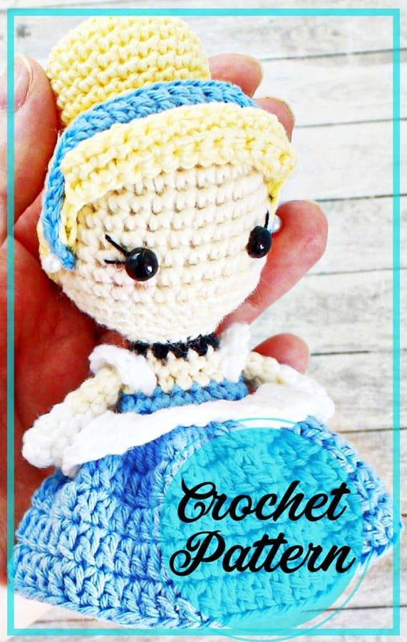 Princess Cindrella amigurumi free crochet pattern