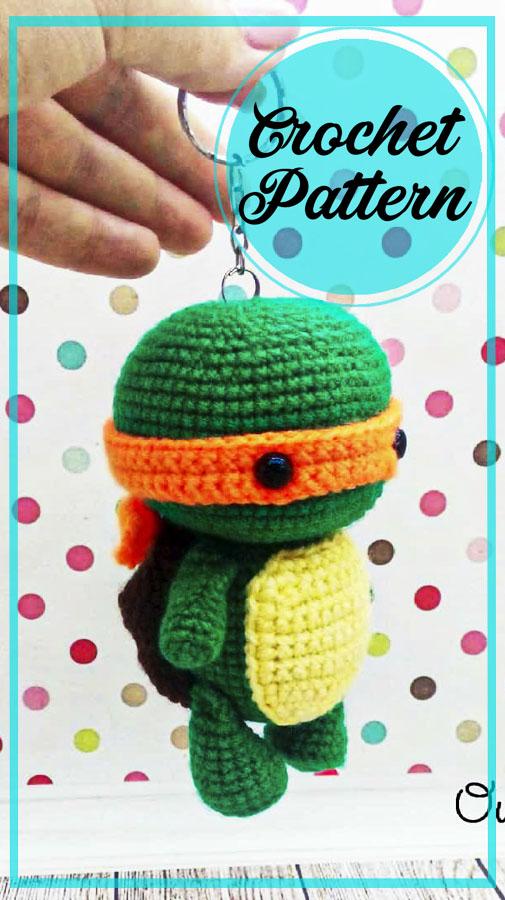 Ninja Turtle amigurumi crochet free pattern
