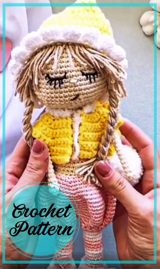 Blonde doll amigurumi crochet free pattern