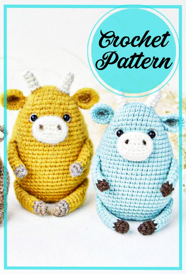 Cow amigurumi free pattern for beginners