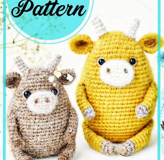 Cow amigurumi free pattern for beginners