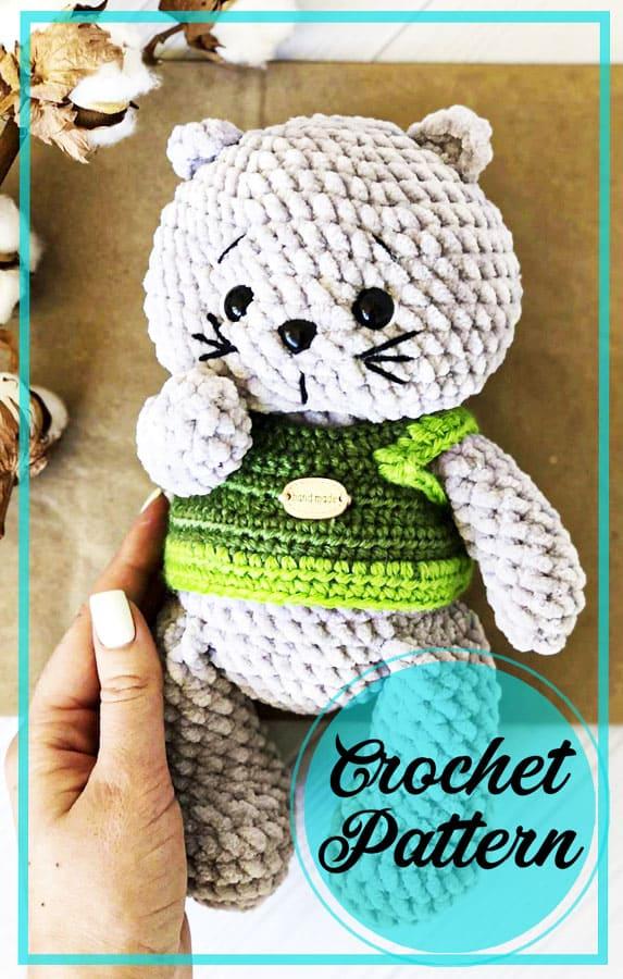 Easy Plush cat amigurumi crochet pattern