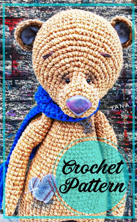 Lovely bear amigurumi free pattern (3)