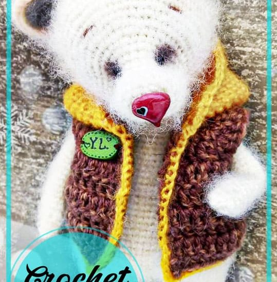 Lovely bear amigurumi free pattern
