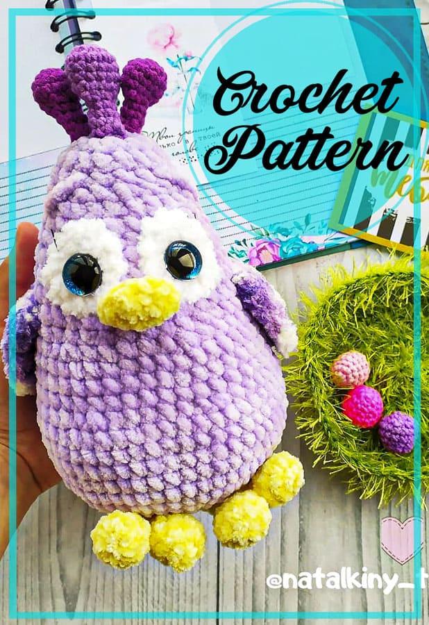 Plush Chicken amigurumi free crochet pattern