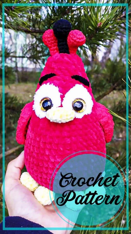 Plush Chicken amigurumi free crochet pattern (3)