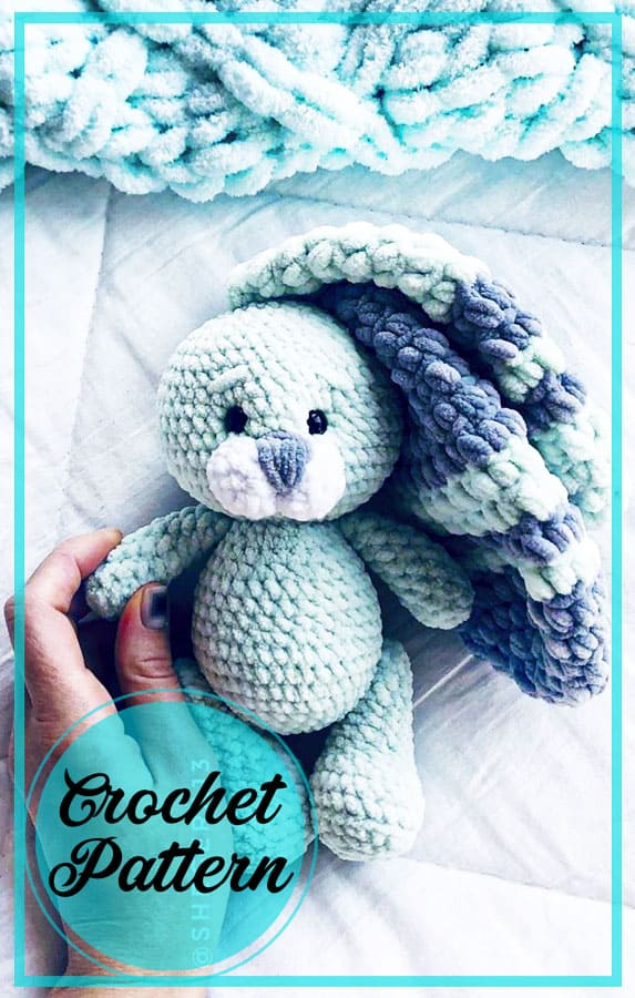 Plush bunny amigurumi free crochet pattern (1)
