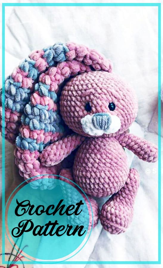 Plush bunny amigurumi free crochet pattern (3)