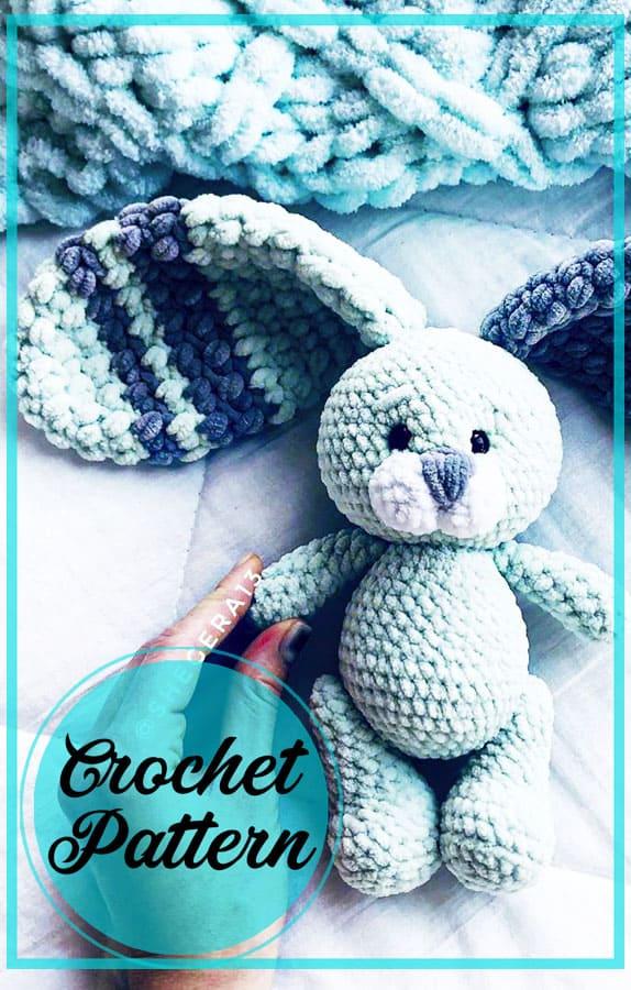 Plush floppy ears bunny amigurumi free crochet pattern