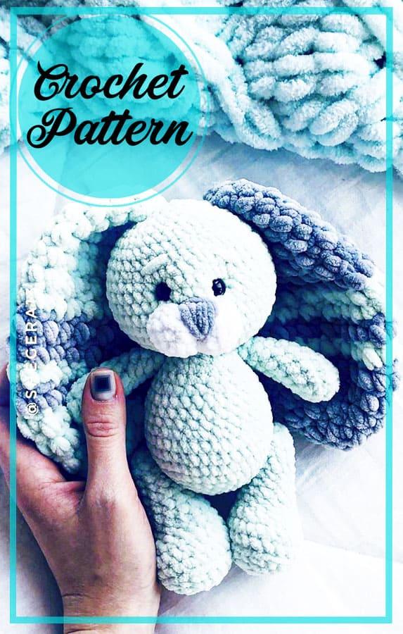 Plush bunny amigurumi free crochet pattern (6)