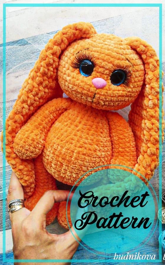 Plush Bunny amigurumi in dress free crochet pattern
