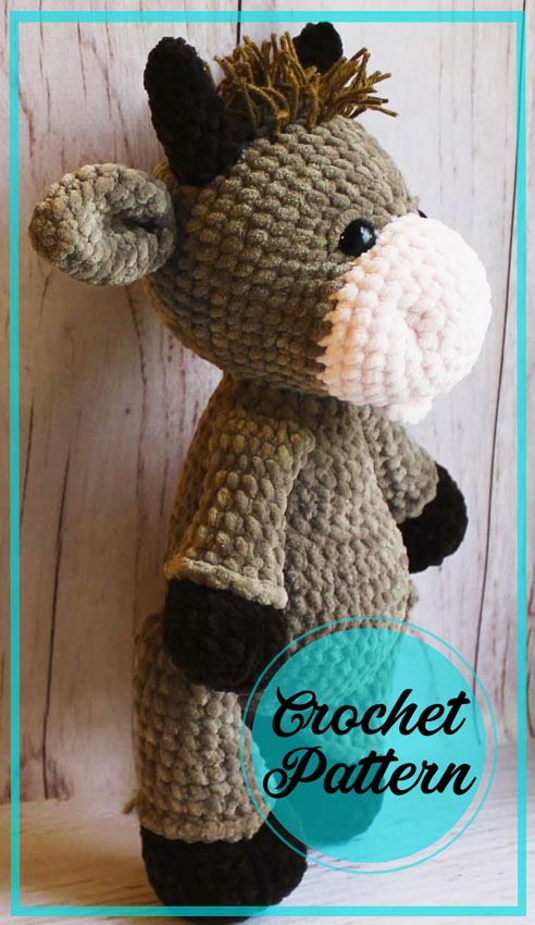 Lovely bull and cow crochet free pattern