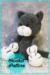 Black crochet cat amigurumi pattern