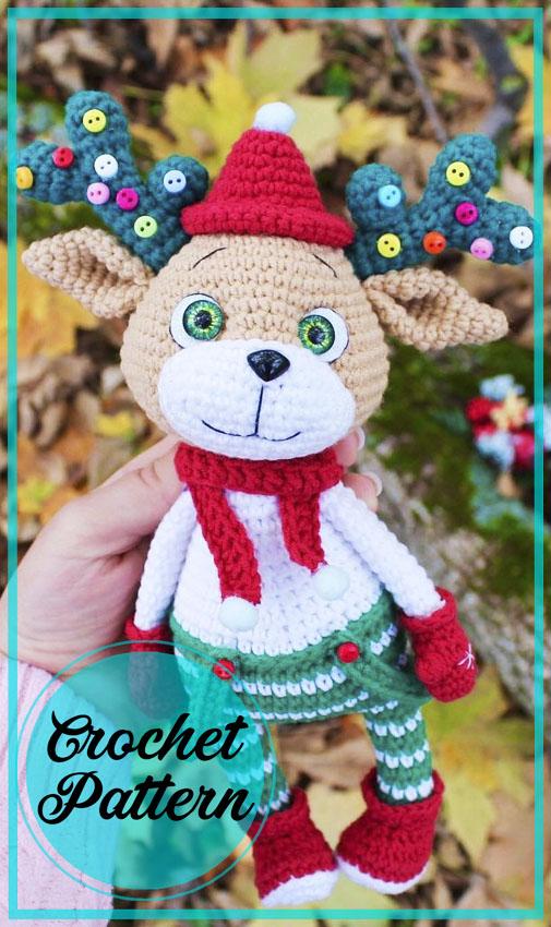 Christmas Reindeer Amigurumi Free Crochet Pattern