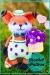 Little fox with dress amigurumi free pattern