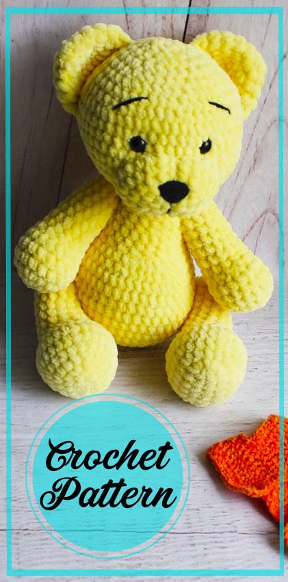 Velvet Bear Amigurumi Crochet Free Pattern