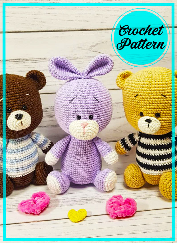 Little Ears Bunny Amigurumi free crochet pattern