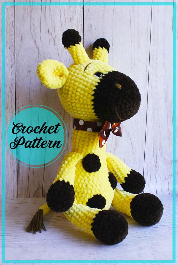 Cute Giraffe Gosh amigurumi crochet free pattern